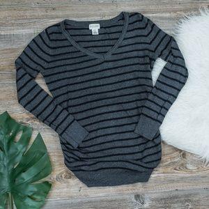 Motherhood Maternity striped long sleeve top